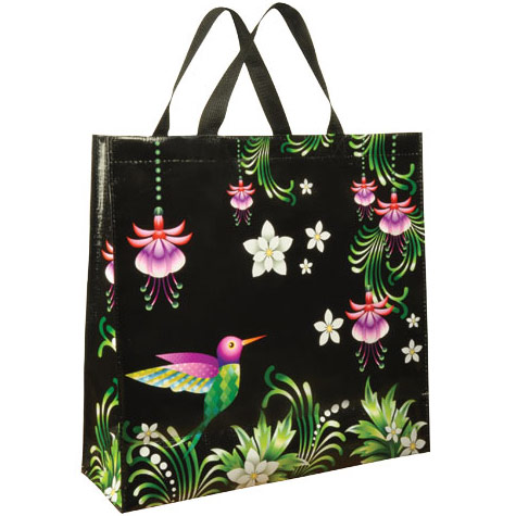 hummingbird shopping tote