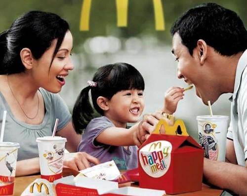 happy eating at McDonalds