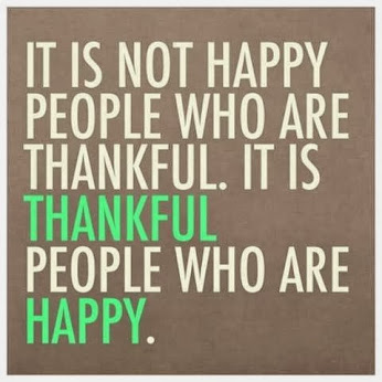 Thankfulness as a Learned Trait